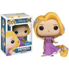 Funko POP! Disney Tangled Sparkle Dress Rapunzel Vinyl Figure, Walmart Exclusive, Multicolor