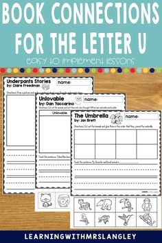 This full week of Letter U lesson plans for your preschool or kindergarten classroom is engaging and easy to prep. Preschool students and kindergarten students alike will benefit from these lessons that reading, math, art, science, outdoor activity ideas and snacks to tie into the letter of the week. Rainforest Animals, Letter Identification, Letter Of The Week, Teaching Letters, Math Art, Activity Ideas, Kindergarten Classroom, Small Groups, Lesson Plans