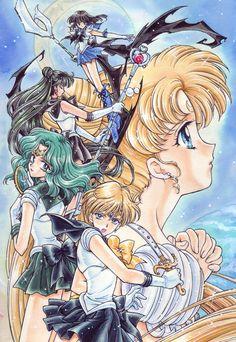 Welcome to my Sailor Moon gallery! All Sailor Moon pictures, all the time! Arte Sailor Moon, Sailor Moon Fan Art, Sailor Moon Manga, Sailor Neptune, Sailor Uranus, Sailor Mars, Sailor Moon Crystal, Old Anime, Manga Anime