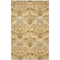 Handmade Cambridge Paradise Brown Wool Rug (5' x 8')
