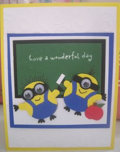 Stampin' Up Owl Punch - Minion Card