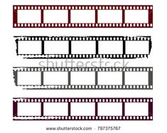 Film strips set. Abstract design. Coloring set abstract vector movie.