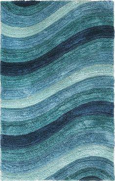 Blue Wave Rug Pier 1