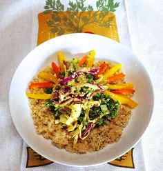 Curry crunch bowl with Trader Joe's cruciferous crunch mix. Just made this. Yum! //Gianna's Kitchen//