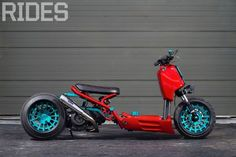 The vast world of Honda Ruckus customization proves the scooter is here to stay. Custom Honda Ruckus, Scooter Custom, Custom Bikes, Scooter Design, Bike Design, Drift Trike, Scooter Motorcycle, Motor Scooters, Cool Motorcycles