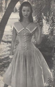 Dolores Hawkins 50s Women's vintage fashion photography photo image