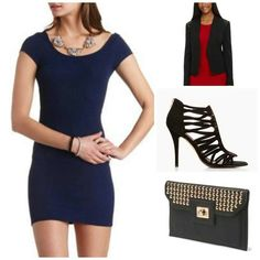 Dress: Charlotte Russe, heels:Forever 21, blazer: Dillards,  clutch: TJ Maxx. Check out my blog: styledbysteph96.wordpress.com
