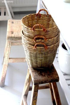 Baskets and stools