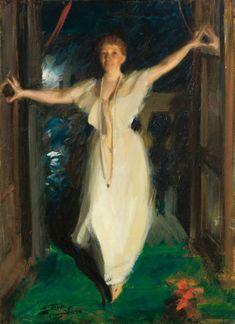 """Anders Zorn (Swedish, 1860-1920), """"Isabella Stewart Gardner in Venice"""", 1894. Oil on canvas, 91 x 66 cm (35 13/16 x 26 in.). Isabella Stewart Gardner Museum, Boston (P17e10)."""