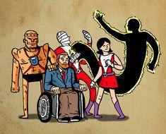 "love-and-radiation: "" Doom Patrol / Kyle Starks. Comic Art, Comic Books, Vertigo Comics, Dc Comics Heroes, Doom Patrol, Dc Characters, Scarlet Witch, Book Of Life, Comic Covers"