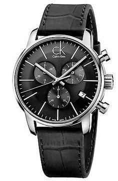 5ef90ca01c202 Calvin Klein - Men s Swiss Chronograph City Black Leather Strap Watch for  Men - Lyst