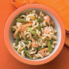 Asparagus, Salmon, and Basil Pasta