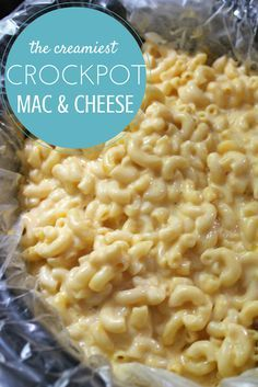 Seriously, this is the CREAMIEST and EASIEST macaroni and cheese recipe ever. You cook the noodles, dump in the ingredients and two hours later your family will be singing your praises! Check out the full recipe and make it for our next potluck or big family meal. It will be a big hit with the kids and the adults!