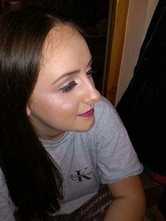 #false #lashes #pink #makeup #pink #lips
