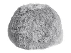 Everything You Need to Create an Ultra Chill Zen Space - Gray Fur-Rific Beanbag from InStyle.com