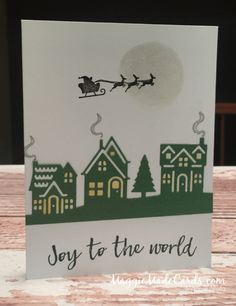 Stampin' Up! Hearts Come Home Stamps & Hometown Greetings Dies Christmas Cards 2017, Stamped Christmas Cards, Christmas Hearts, Christmas Card Crafts, Stampin Up Christmas, Xmas Cards, Handmade Christmas, Holiday Cards, Christmas Ideas