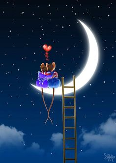 Moon and Love Couple Wallpaper, Love Wallpaper, Galaxy Wallpaper, Image Jesus, Moon Pictures, Night Wishes, Sun And Stars, Good Night Moon, Beautiful Moon