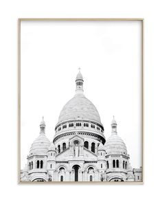 """""""Looking Over Montmartre"""" - Art Print by Wildfield Paper Co. in beautiful frame options and a variety of sizes."""