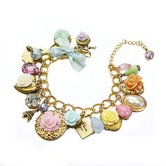 Charmed I'm sure! – Vintage inspired charm bracelet | Flickr - Photo Sharing!