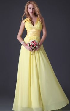 Formal-Yellow-Wedding-Dresses-beading-Bridal-gown-Prom-party ...