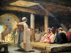 Frederick Arthur Bridgman - Cafe at Biskra, Algeria, 1884 at Smithsonian American Art Museum Washington DC | by mbell1975