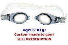 0f50f772812  5-10 yrs  Kids Prescription Swim Goggles PE8 (Custom Made to Prescription
