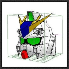 Life Size RX-93 ν Gundam Head Paper Model Free Download
