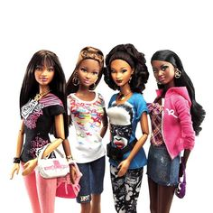 First collection of mixed race Barbie dolls hits the UK  The 'So In Style' dolls designed by African American mum debut today in Selfridges
