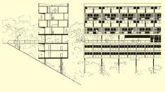 Conjunto habitacional Pedregulho, 1947-52, Rio de Janeiro -  Arqtº Affonso Eduardo Reidy   aU - Arquitetura e Urbanismo
