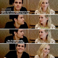 #TVD The Vampire Diaries Paul Wesley(Stefan) & Candice Accola(Caroline)