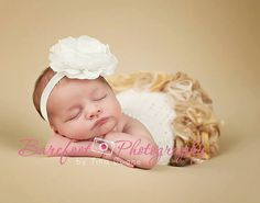White Flower Headband Silk Flower w/ Pearl от TheFairyFactoryShop