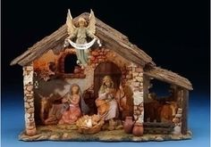 Fontanini 6 Piece Centennial Nativity Set with Lighted Stable, Roman-Fontanini-All, 54567 Christmas Nativity Set, Handmade Christmas, Christmas Crafts, Christmas Decorations, Christmas Clay, Christmas Figurines, Christmas Ideas, Nativity Stable, Nativity Sets