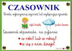 czasownik1 Learn Polish, Polish Language, 80s Party, Kids And Parenting, Homeschool, Classroom, Education, Learning, Diy