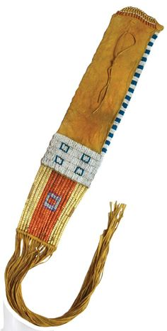 "Early Sioux Pipe Bag. 42""L. with fringe. Early 1900's. - 2"