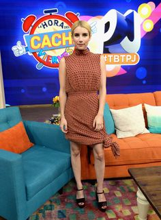 """Emma Roberts groomed and chic to support the film """"Nerve"""""""" at Univision Studios on July 14, 2016 in Miami, Florida."""