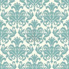 Damask wallpaper pattern  Stock Photo