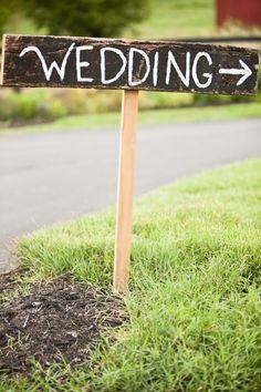 Rustic wedding directions