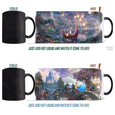 Tangled and Cinderella morphing mugs from Zulily
