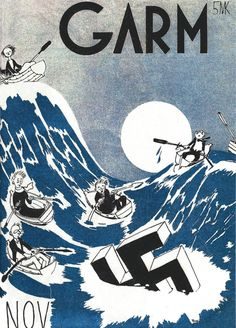 by Tove Jansson in Huumori voittaa suomalaisissa sotasarjoissa - Book(Humor is winning in Finnish war comics)  from Culture pages in Helsingin Sanomat 25.11.2014