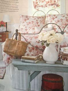 Country chic bedroom!