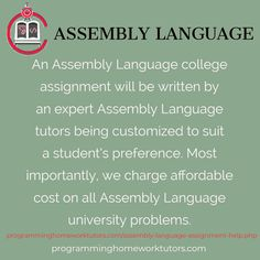 assembly language research paper This research paper c programming language and other 64,000+ term papers, college essay examples and free essays are available now on as a result, c code is suitable for many systems-programming applications that had traditionally been implemented in assembly language.