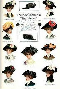 1890 : Women wore beautiful hats and Wyoming became a State