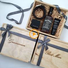 Groomsman & Best Man Gift Box – Custom Engraved (Box Only) Groomsmen gift ideas. For the beauties out there. Groomsmen Gift Box, Groomsman Gifts, Groomsmen Gift Baskets, Groomsmen Gifts Unique, Groomsmen Proposal, Gift Box For Men, Gifts For Him, Cool Gifts For Men, Gift Basket For Men