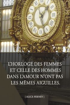 The clock of men and women in love do not share hands. #quotes, #citations, #pixword