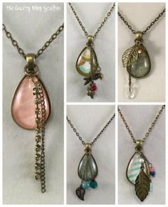 The Crafty Blog Stalker has created a beautiful tutorial for simple, but elegant DIY pendants. (Click through for tutorial)