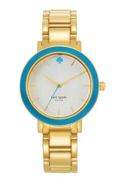 kate spade new york 'gramercy' enamel bezel bracelet watch, 36mm available at #Nordstrom