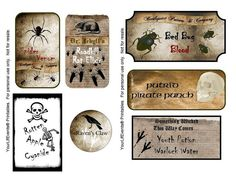 Free potion bottle printable labels. So many more ...
