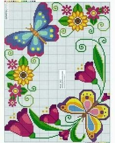 No automatic alt text available. Butterfly Cross Stitch, Cross Stitch Rose, Cross Stitch Borders, Cross Stitch Flowers, Cross Stitch Charts, Cross Stitch Designs, Cross Stitching, Cross Stitch Embroidery, Cross Stitch Patterns