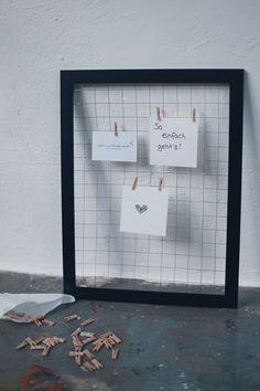 DIY: Memoboard im Industrie-Design // odernichtoderdoch