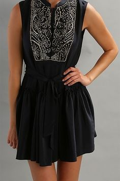 cute black and silver beaded dress